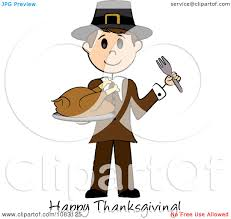 Happy Thanksgiving Pilgrims Royalty Free Rf Clipart Illustration Of A Happy Thanksgiving