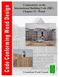 International Building Code Code Conforming Wood Design