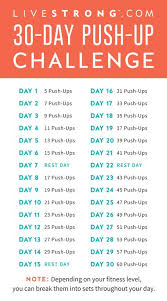 Challenge Up The 30 Day Push Up Challenge Livestrong