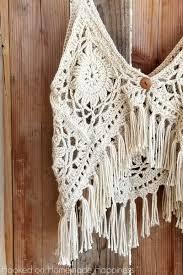 boho crochet crochet boho tank top hooked on happiness