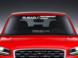 subaru window decals 1 x subaru performance sticker for windshield or back window