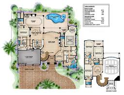 Mediterranean Floor Plans Mediterranean Style House Plan 5 Beds 7 00 Baths 7542 Sq Ft Plan