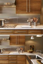 kitchen backsplash stainless steel stove backsplash metal tiles