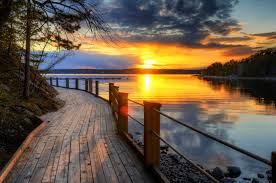 nature landscape scenery sky sunset beach ocean sky sunrise sun