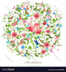 beautiful pattern round pattern of beautiful flowers for your design