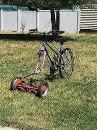Lawn Mower Meme - i saw this homemade eco bike powered lawn mower meme guy