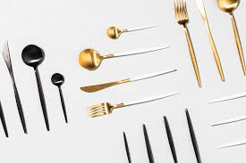 matte gold 24 peice cutlery set the cool hunter the cool hunter