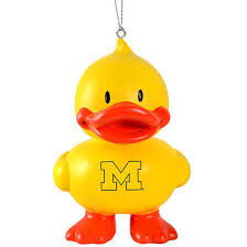 forever collectibles of michigan rubber ducky ornament