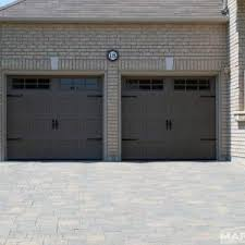 Backyard Garage Designs Decor White Wooden Raised Panel Haas Garage Doors For Attractive