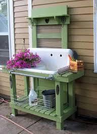 Plant Bench Plans - 188 best potting bench ideas images on pinterest potting tables
