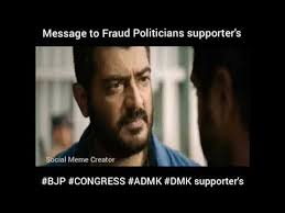 Meme Video Creator - message to fraud politicians supporter s whatsapp status