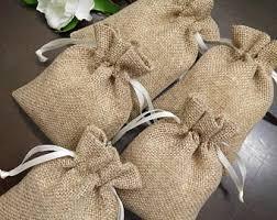 burlap wedding favor bags burlap favor bags etsy