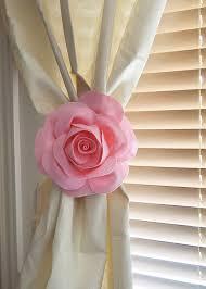 two rose flower curtain tie backs curtain tiebacks curtain
