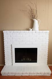 pretty painted brick fireplace on painted brick fireplace ideas