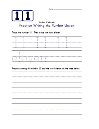 number 11 worksheets printable activity shelter
