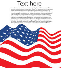 vector american flag letter size 123freevectors