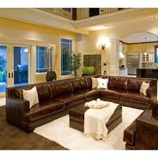 White Leather Sofa Living Room Ideas by Furniture Elegant Full Grain Leather Sofa For Luxury Living Room