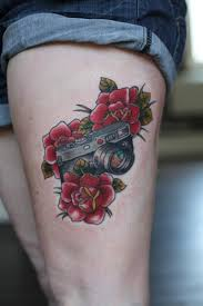 flowers on thigh camera with red flowers tattoo on thigh tattoos book
