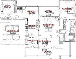 house plans with keeping rooms farmhouse style house plan 4 beds 3 baths 2565 sq ft plan 63