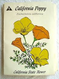 wildflower seed packets vintage california poppy seed packets poppies wildflower