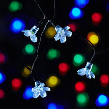 led garland christmas lights solar powered led garland string lights 7m 50leds garden luces