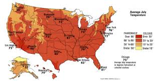United States Temp Map by July Temperature Of Usa