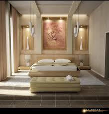 Modern Deco by Bedroom Artsitic Brown Painting In Modern Art Deco Bedroom