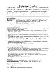 Professional And Technical Skills For Resume Technical Support Resume Skills Resume For Your Job Application