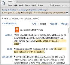 figurative new feature figurative language logos bible software forums