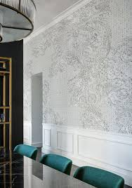 wallpaper accent wall splendid decorating ideas for the dining