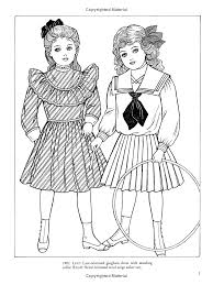 old time children u0027s fashions coloring book dover fashion coloring