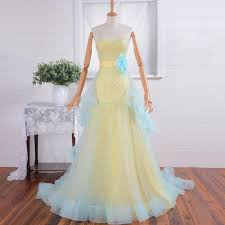 blue yellow wedding dresses blue and yellow bridesmaid dresses