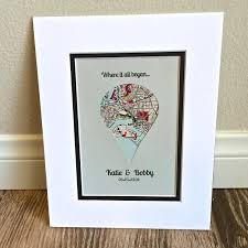 wedding gift map dropped pin map gift for or boyfriend gifts for