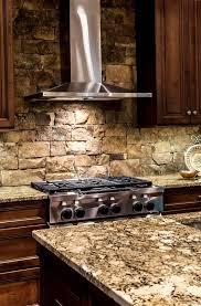 Are Stone Backsplashes Hard To Clean Stone Kitchen Backsplash - Stacked stone veneer backsplash