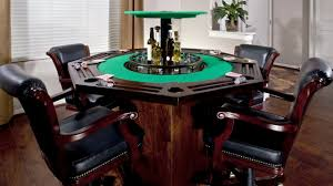 Poker Dining Room Table Card Table With A Hidden Bar In The Middle Youtube