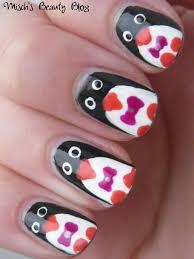 misch u0027s beauty blog notd december 17th penguin nail art