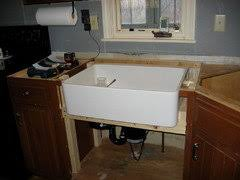 how to install an apron sink in an existing cabinet tips for installing a farmhouse sink
