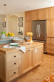 modern american kitchen with cork floor for easy maintainance
