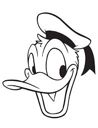 donald duck picture portrait coloring u0026 coloring pages