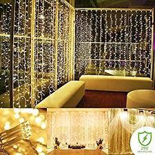wall lights living room amazon com addlon curtain string lights 300 led icicle wall