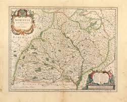 Bohemia Map Moravia Marchionatus Auctore I A Blaeu Czechia Bohemia