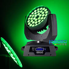 2 x china zoom moving lights 10wx36 rgbwa 5in1 led moving