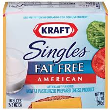 carbs in light string cheese kraft singles fat free american cheese slices 10 7oz 16ct target