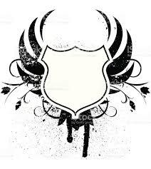 grunge winged blank shield stock vector art 165081206 istock