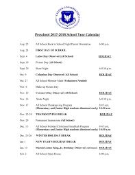 carden conservatory preschool calendar