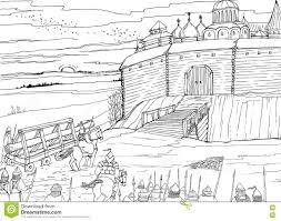 Slavic Flags Siege Of The Slavic Fortress Nomads Illustration 79262646 Megapixl