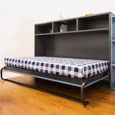 Collapsible Bed Frame Cheap Price Folding Bed Horizantal Wall Mounted Bed Single Hidden