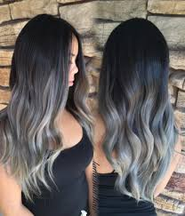black grey hair grey ombré hair is the newest color trend and it s freaking beautiful