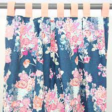 Blue Floral Curtains Curtain Panels S Coral Navy Floral Caden