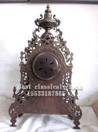 mechanical desk clock european baroque architecture hollow bronze bell antique